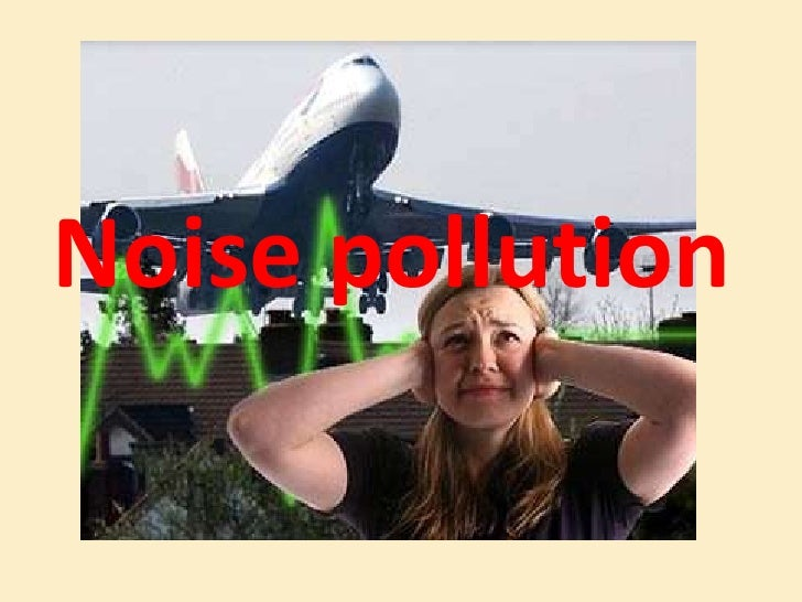 Noise pollution<br />