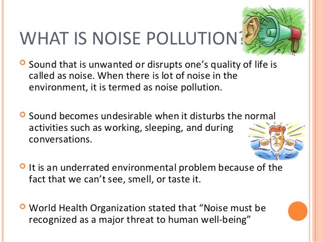 Comparitive Examples of Noise Levels
