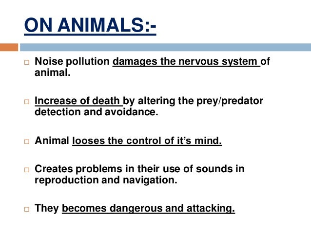 cause and effects of noise pollution essay Sometimes a cause has one effect but at other times one cause might have many effects examples of cause and effect essay  of noise pollution causes and effects.