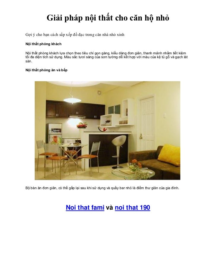 Giải pháp nội thất cho căn hộ nhỏGợi ý cho bạn cách sắp xếp đồ đạc trong căn nhà nhỏ xinhNội thất phòng kháchNội thất phòn...