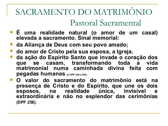 Sacramento Do Matrimonio Catolico : Noivos sacramento do matrimônio slides