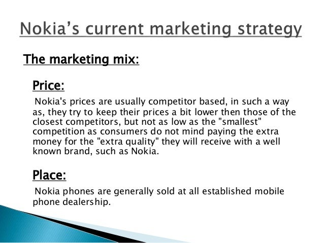 strategic analysis on nokia