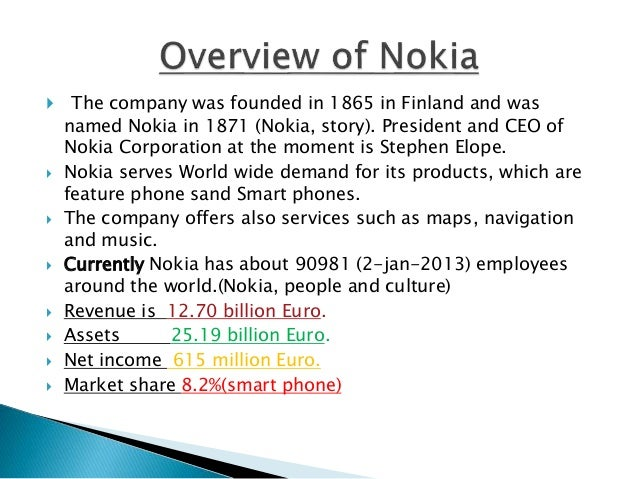 nokia environmental strategy Environment & pest analysis: an approach to external business environment to define and discuss the role of environmental analysis in the strategic management strategy contends that a corporation is most concerned with the intensity of competition within its.