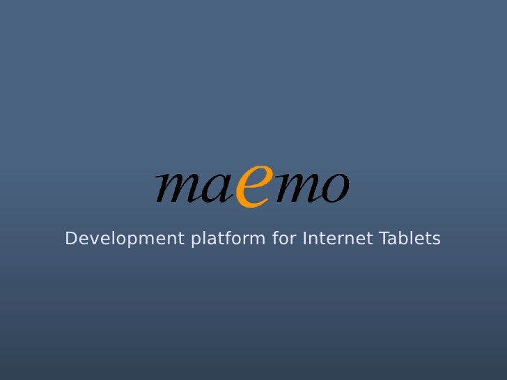 Nokia and maemo in the new GNOME mobile context