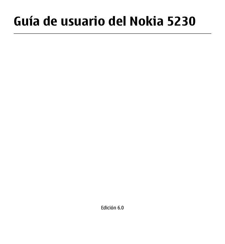 Guía de usuario del Nokia 5230              Edición 6.0