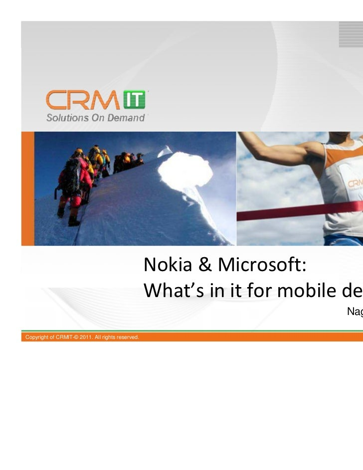 Nokia & Microsoft:                                                  What's in it for mobile developers                    ...
