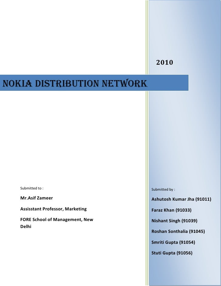 Nokia distribution network   delhi ncr