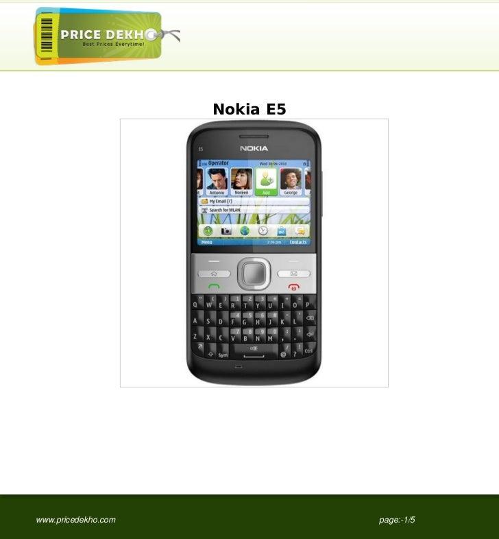 Nokia+E5+specification