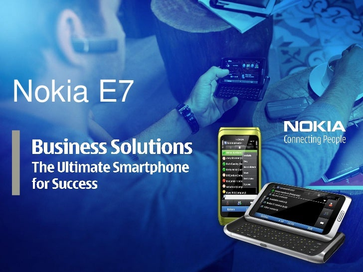Nokia E7 Business Solution