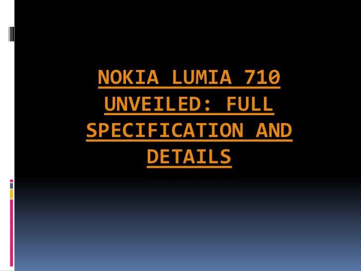 Nokia lumia 710 unveiled