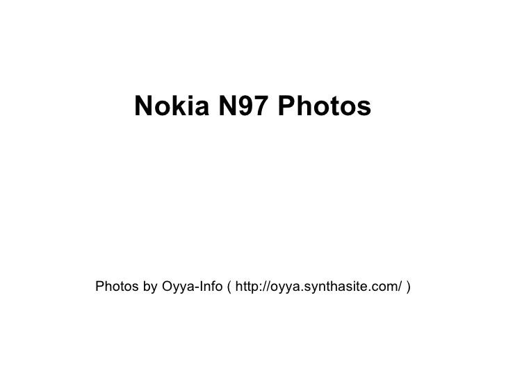 Nokia N97 Photos