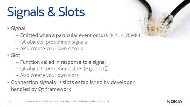 Signals slots qt