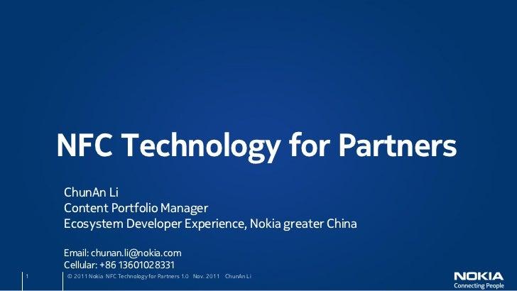 Nokia NFC Presentation
