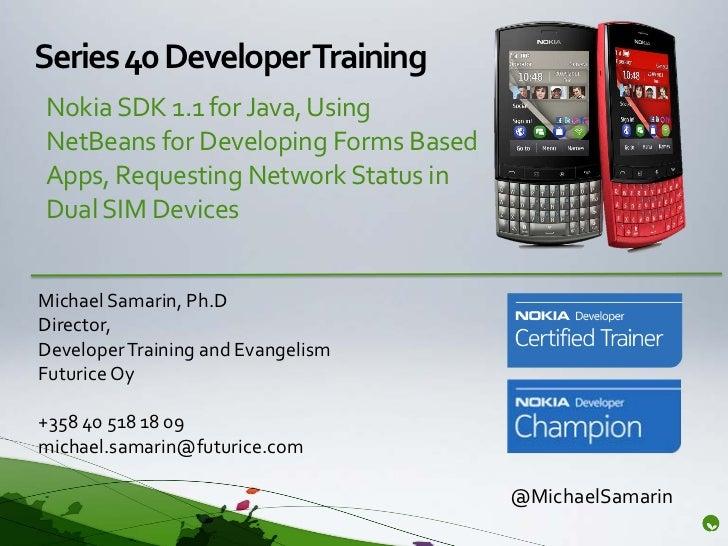 Using Nokia SDK 1.1 for Java with dual-SIM Series 40 Asha phones