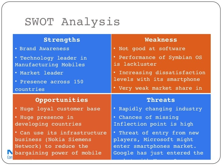 compare and contast the swot analysis