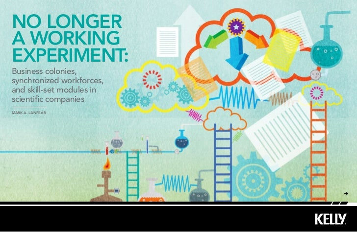 NO LONGERA WORKINGEXPERIMENT:Business colonies,synchronized workforces,and skill-set modules inscientific companiesMark A....