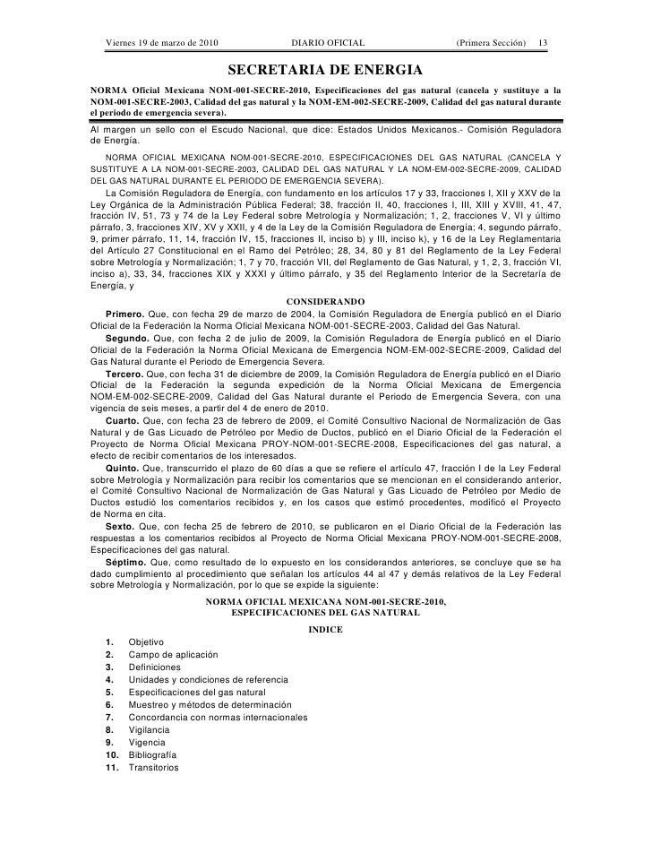 Viernes 19 de marzo de 2010                   DIARIO OFICIAL                          (Primera Sección)   13              ...
