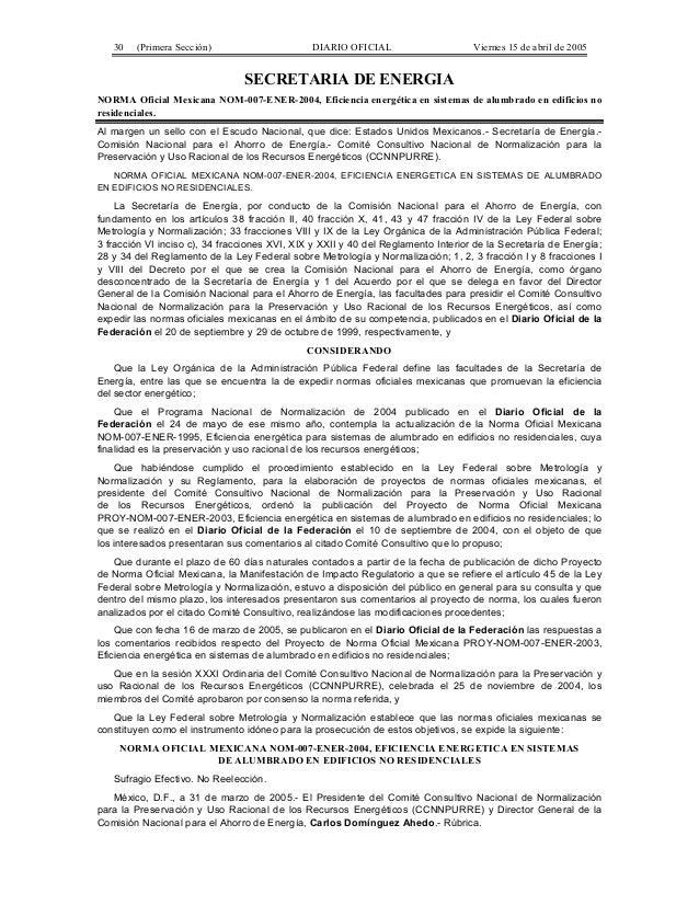 30   (Primera Sección)                      DIARIO OFICIAL                      Viernes 15 de abril de 2005               ...
