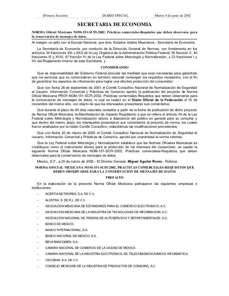 (Primera Sección)                      DIARIO OFICIAL                     Martes 4 de junio de 2002                       ...