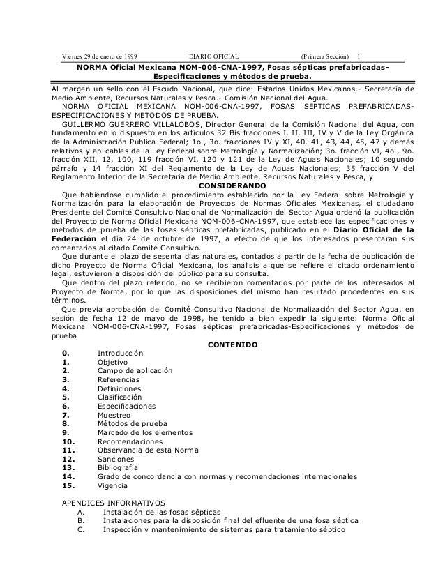 Viernes 29 de enero de 1999        DIARIO OFICIAL                 (Primera Sección)   1       NORMA Oficial Mexicana NOM-0...