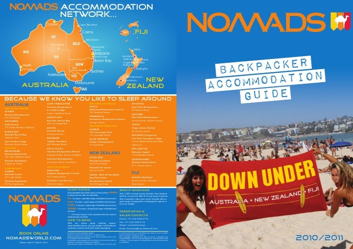 Nomads accommodation network brochure (outside)