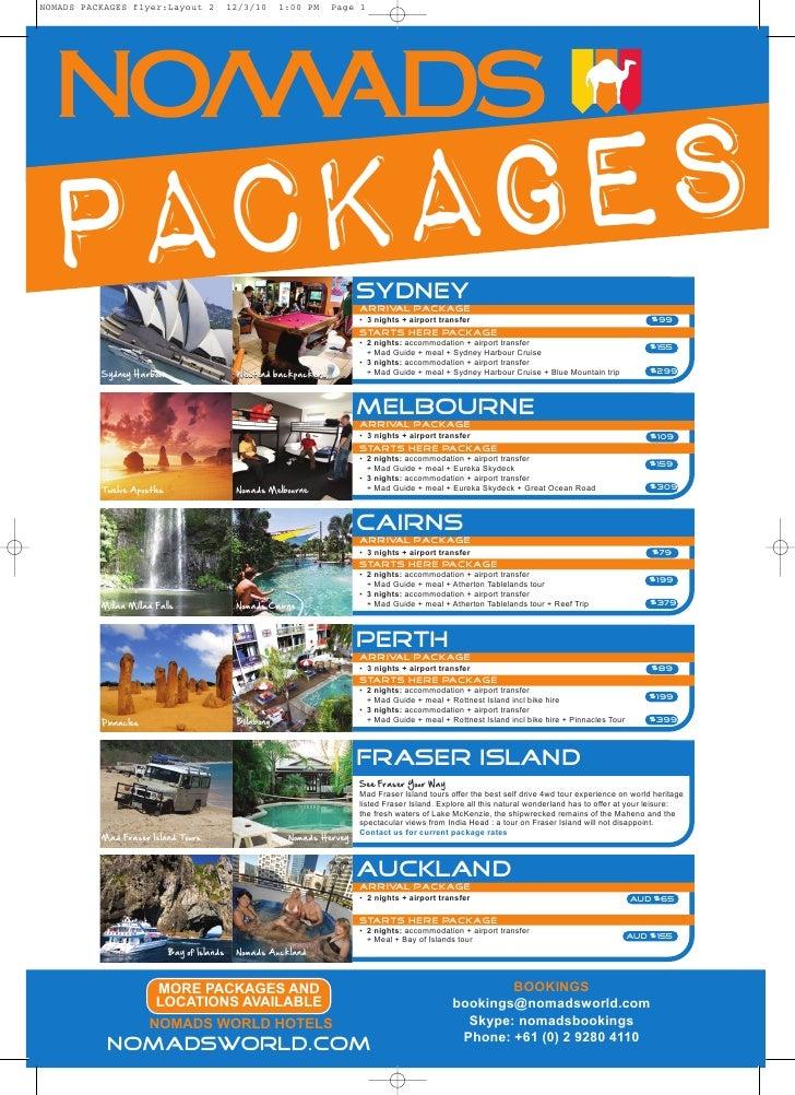 Nomads Packages brochure