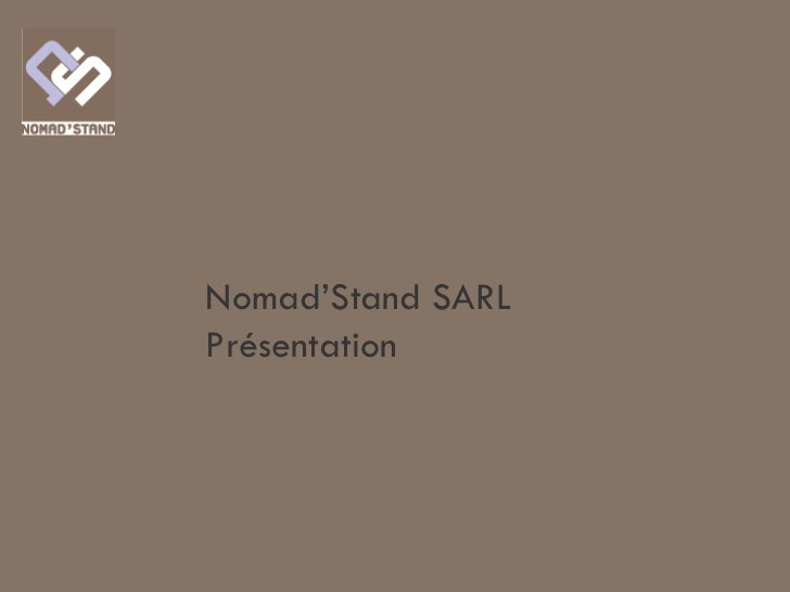 Nomad'Stand SARLPrésentation