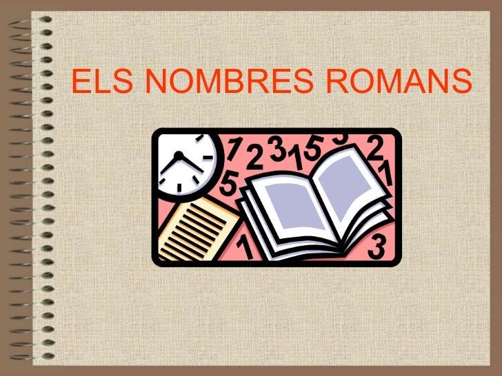 Nombres romans