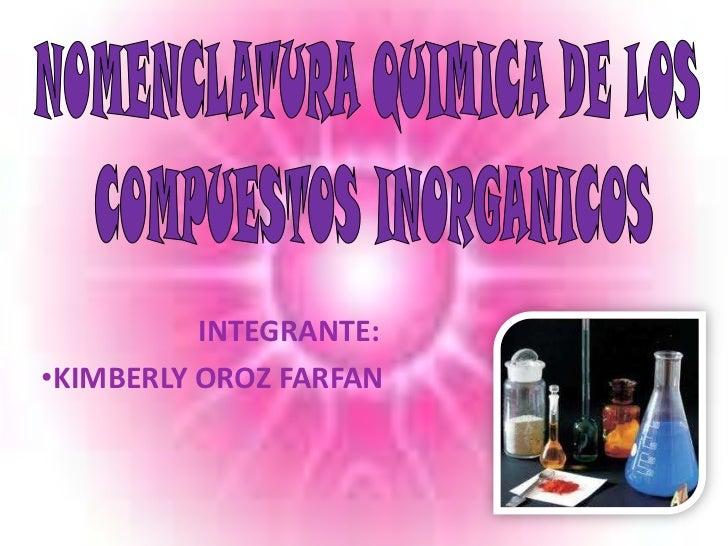 Nomenclatura de los compuestos inorganicos