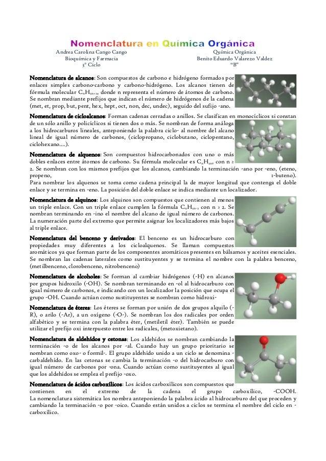 Andrea Carolina Cango Cango                                       Química Orgánica             Bioquímica y Farmacia      ...
