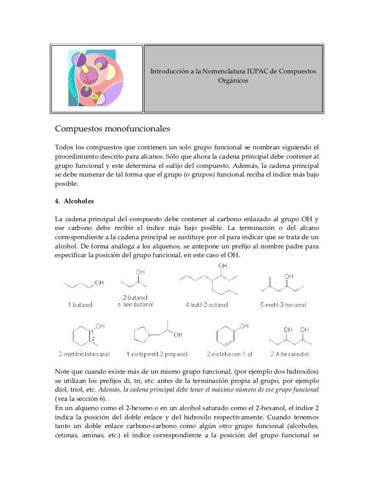Introducción a la Nomenclatura IUPAC de Compuestos                                                        Orgánicos     Co...