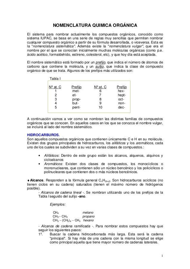 NOMENCLATURA QUIMICA ORGÁNICA El sistema para nombrar actualmente los compuestos orgánicos, conocido como sistema IUPAC, s...