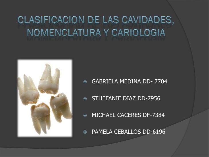 Nomenclatura y cariologia uasd 2010  1 restauradora