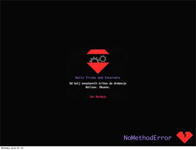 Nomethoderror talk