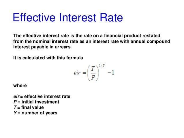 interest rates formula