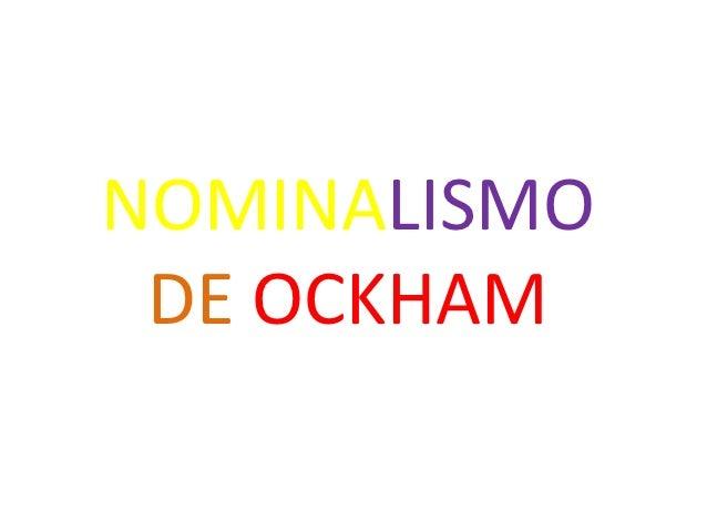 Nominalismo de ockham