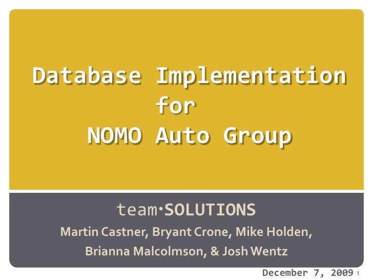 Nomo2 Final Product Presentation Final