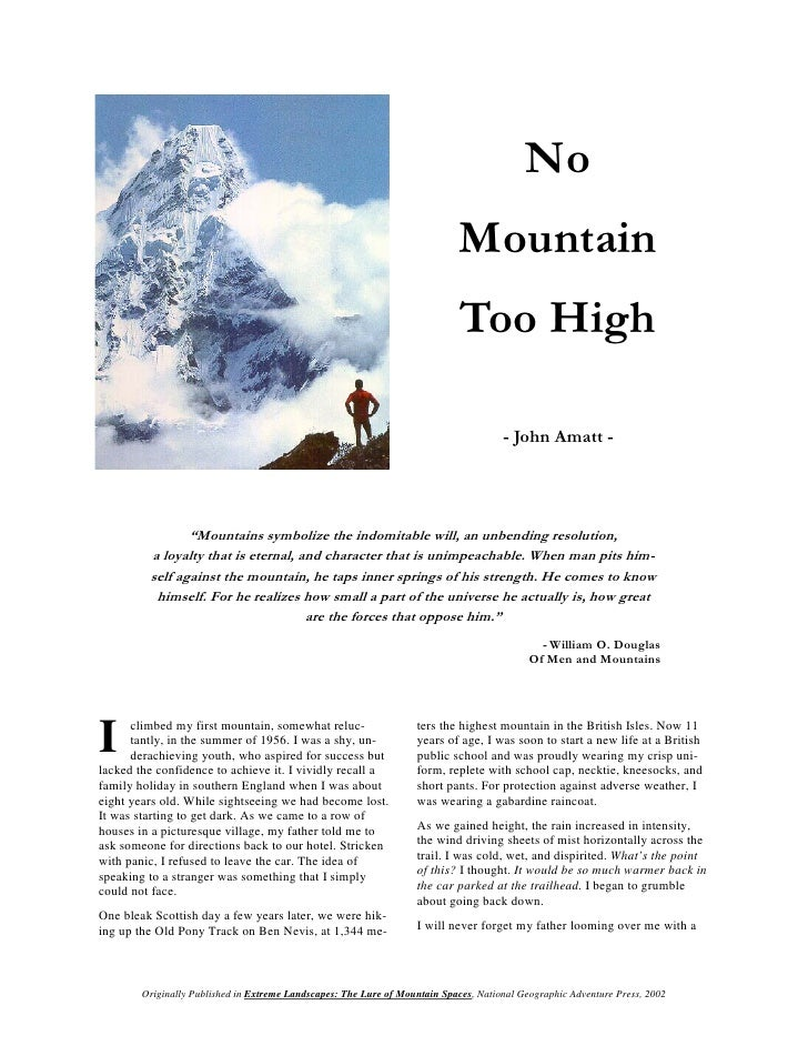 mountain essays