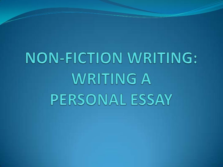 Writing creative non fiction essay