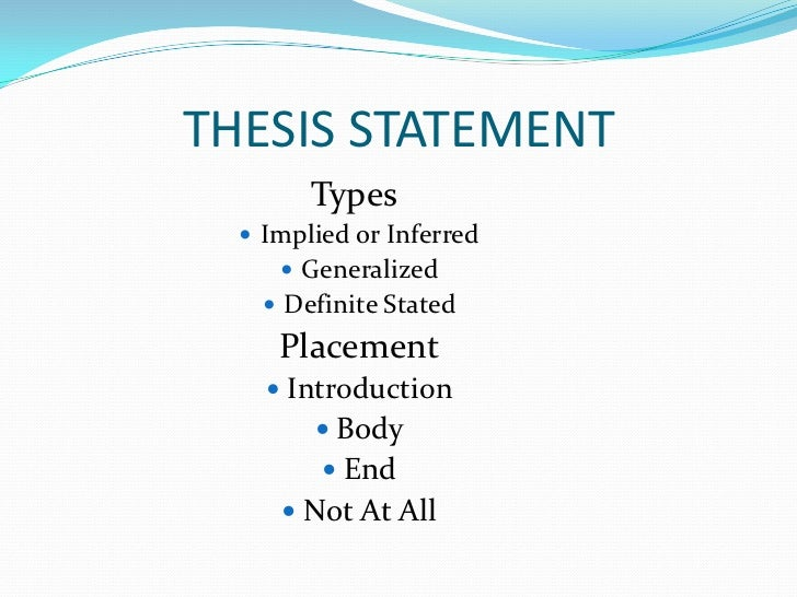 thesis statement in a personal narrative Narrative thesis statement as a narrative essay is a personal essay correspondingly its thesis statement is always the reflection of the personal experience of.