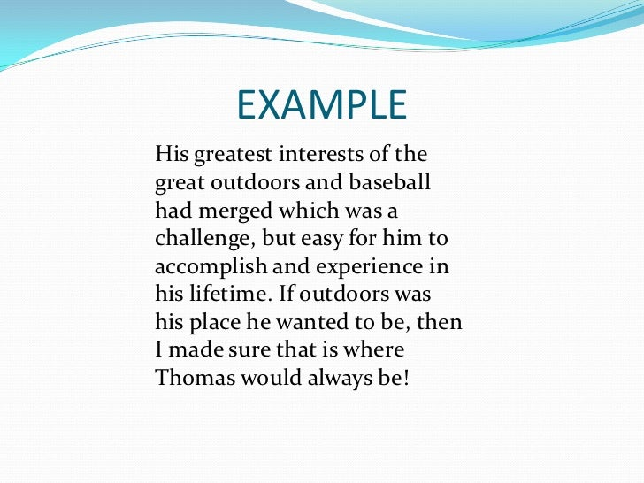 Examples of great personal essays