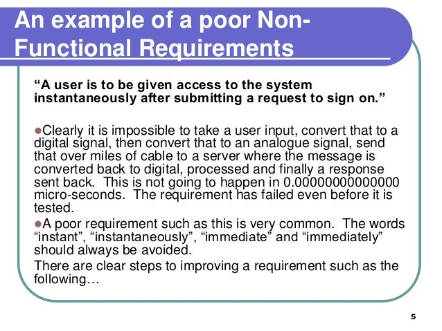 functional and non functional requirements