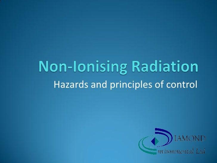 Hazards and principles of control