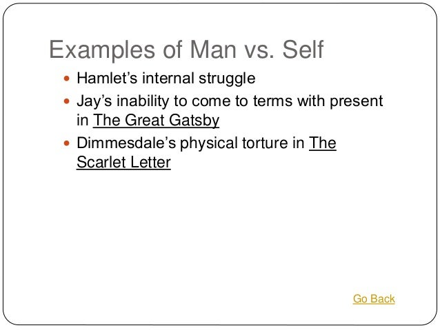 Man .vs. Himself in the Scarlet Letter?