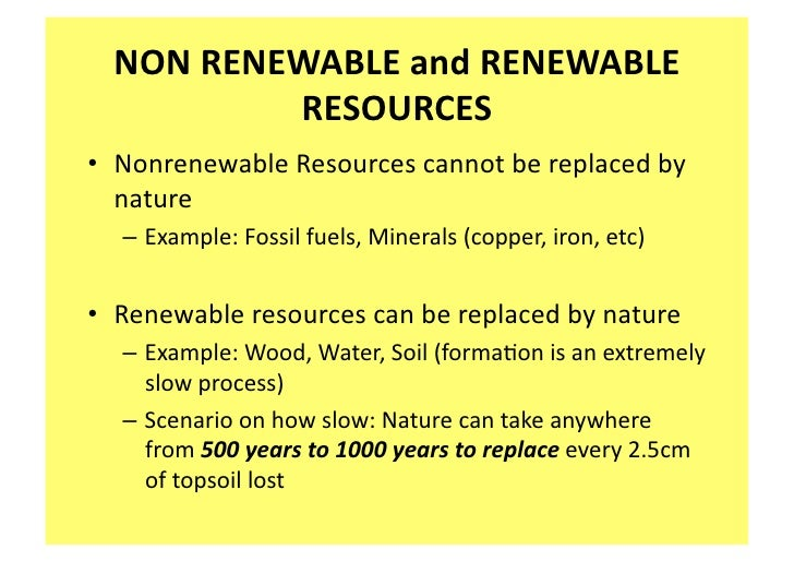 Non living resources ns 5 for Soil resources definition