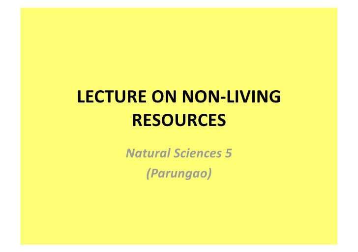 Non Living Resources Ns 5