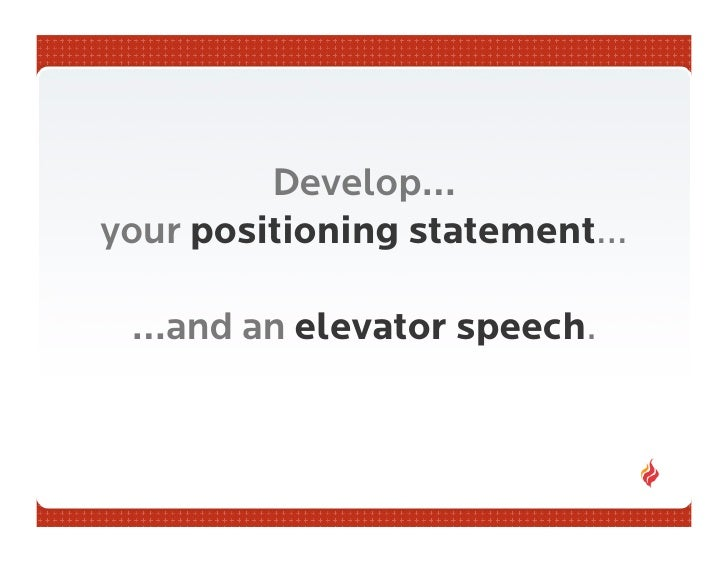 What is a position statement?