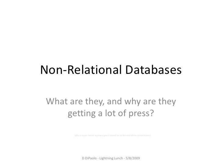Non Relational Databases