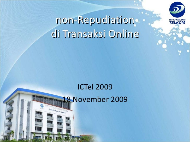Non Repudiation in Online Transaction