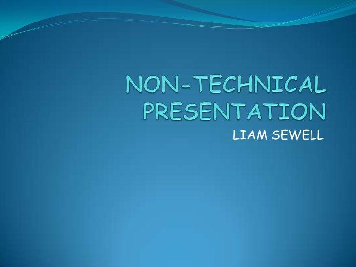 Non technicalpresentation